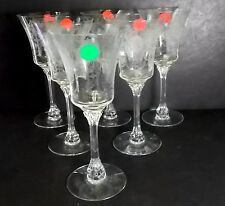HEISEY crystal MINUET 5010 pattern Set of Six (6) Water Glasses - rim nips/chips