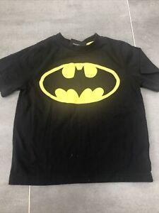 Batman Kids Childrens T Shirt Age 5 - 6 Black Dress Up Fancy Dress