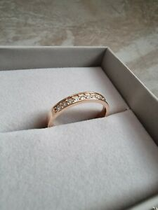 CHRIST DAMENRING Rosegold 585 mit 10 Diamanten,Verlobungsring Neupreis 599 Euro