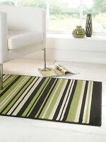 Modern Design Striped Rug Runner Red Green Purple Grey in Various sizes Carpet