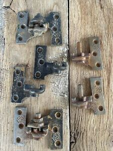 """Antique Cast Iron Lift Off Shutter Hindge Lot of Hinges 2 1/2"""" Marked """"O.S."""""""