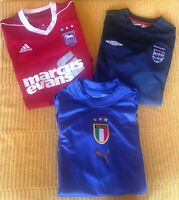 MIXED BUNDLE Football Shirts IPSWICH ENGLAND ITALY Soccer Jersey Youth