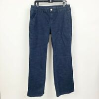 Lane Bryant Womens Size 14 Dark Blue Rinse Mid Rise A Line Trouser Jeans Stretch