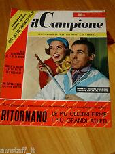 IL CAMPIONE 1956/37=LAURETTA MASIERO=PIERO GROSSO=TOURIST TROPHY OMOBONO TENNI=