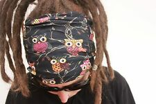 Kitch Owl Dreadlock Headband/dread sock/wrap - Lightweight, soft, comfortable