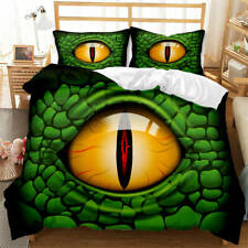 Horrible Green Snake Eye 3D Blockout Photo Print Curtain Fabric Curtains Window