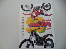 advertising Pubblicità 1991 MOTO BETA MX 50 ENDURO/TR35 TR 35 50 TRIAL