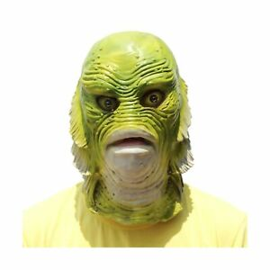 Halloween Animal Head Fish Mask Creature from The Black Lagoon Natural Latex