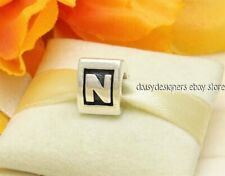 Authentic Pandora Silver ALPHA N Letter Initial Charm 790323N RETIRED