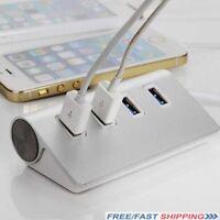 4-Port USB 3.0 Multi HUB Splitter Aluminum Adapter High Speed For PC Laptop