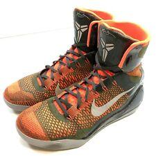 Nike Kobe IX 9 Elite High Strategy 630847-303 Sz 11 Masterpiece Flyknit Lunarlon