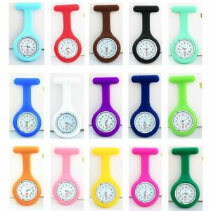 Multi Colors Lapel Watches with Second Hand Nursing Fob Nurse Watch Clip On