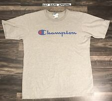 True Vintage 90s Champion T Shirt Spell out Grey Sz XL Mint Cond Hip Hop Rap