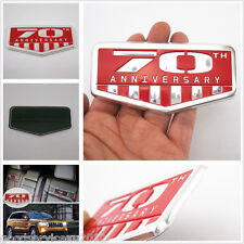 Car Metal Red 3D 70th Anniversary Logo Emblem Nameplate Badge Decal 3M For Jeep