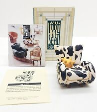 Willitts Designs Take A Seat Miniature Cow Chair Dollhouse Mini Furniture 1998