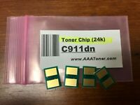 4pk - Toner Reset Chip for OKI C911, C911dn model only (24k) Refill