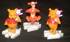 "Winnie The Pooh Tigger & Piglet Figures McDonalds Puzzle Attaching Lot 3.5"" Vtg"