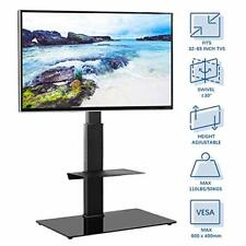 RFIVER Universal Tall Swivel TV Floor Stand for 32-65 inch Flat Curved Screens