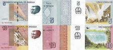 ANGOLA - Lot Lotto 2 banconote 5/10 Kwanzas 2017 FDS - UNC