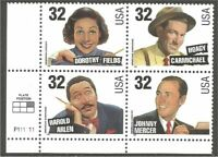 USA 1998  Song writers 3100-3103a MNH ** Plate 111111
