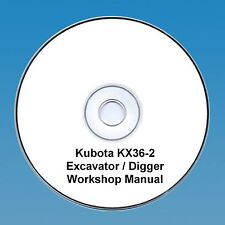 Kubota KX36-2 Excavator / Digger - Workshop Manual.
