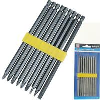 5PC EXTRA LONG REACH ASSORTED 6/'/' 15CM POWER DRILL SCREWDRIVER BIT SET 1//4/'/' HEX