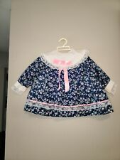 Vintage Lacy Ruffles blue floral  toddler Dress cradel togs 4T