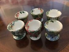 English Studio Egg cups (6) Kate Eastaugh Willow Cottage. C 1970 stamped to base