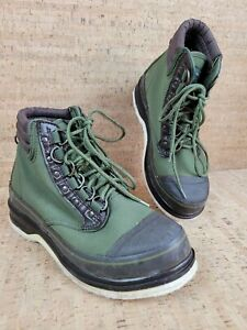 Orvis Boots Size 9 Felt Bottoms Fly Fishing Wading Green