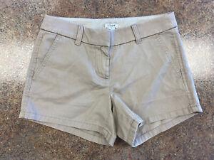 J. Crew Women's Khaki Brown Pocket comfort casual Cotton city shorts size 00