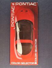 1995 Pontiac Paint Chip Colors Brochure Firebird Trans Grand Prix Am Bonneville