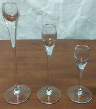 Rosenthal STUDIO LINE Elegant Glass Crystal Set 3 Taper GRADUATED CANDLEHOLDERS