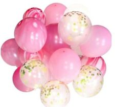 Pink Marble Gold Confetti Helium Balloons (20pcs) 1st Girl Birthday Baby Shower