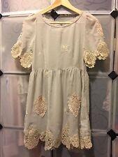 Snidel Chiffon Lace Dress Beige Size 10