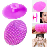 2Pcs Soft Silicone Facial Cleaning Brush Face Blackhead Pore Exfoliator Cleaner