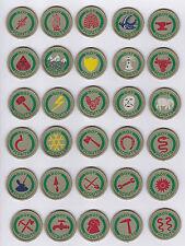 1930-40's UK / BRITISH / UNITED KINGDOM Boy Scout Khaki Proficiency Badge Lot 3