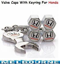 For Honda Logo Emblem Wheel Tyre Tire Valve Air Dust Cover Screw Caps Gift #WBH