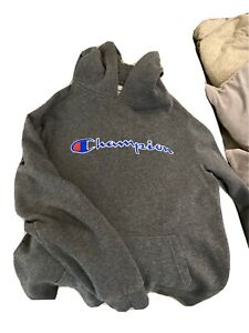 Champion boys large grey hoodie