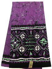 BATIK PRINT PATTERN -African Print Fabric /100% Cotton, Geo-Purple,Mint