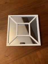 Square White Plastic Mirror