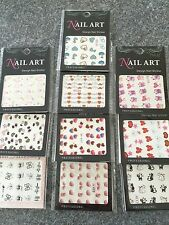 10 Packs Nail Art Water Decals/Transfers  Hearts & Love Pack 3