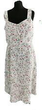 JOE BROWNS WHITE RED FLORAL LONG DRESS - UK Size 16