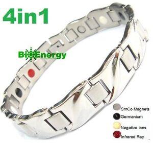 Magnetic Energy  Power Bracelet Health 4in1 Bio Armband Arthritis