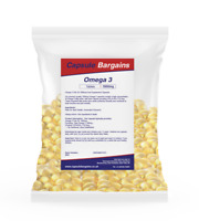 Omega 3 1000mg 360 Capsule High Strength Fish Oil EPA DHA Omega-3 Tablet Bargain