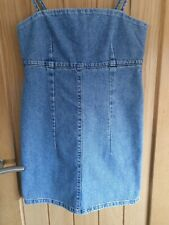 Topshop Fitted Denim Dress Size 8 petite Worn Once