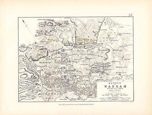 MAP/BATTLE PLAN ~ BATTLE OF WAGRAM ~ 5th & 6th JULY 1809 ~ SHEET 1