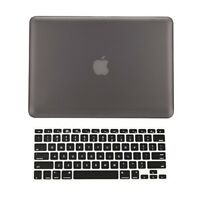 "2 in 1 Rubberized GRAY Hard Case for Macbook PRO 15"" A1286 with Keyboard Cover"