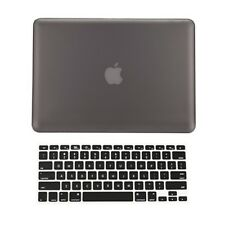 """2 in 1 Rubberized GRAY Hard Case for Macbook PRO 15"""" A1286 with Keyboard Cover"""