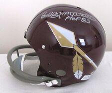 Bobby Mitchell TK Redskins Spear Helmet FS Full Size - Hall of Fame Inscription