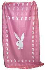 Playboy Fleecedecke Vliesdecke Kuscheldecke Square Bunny pink